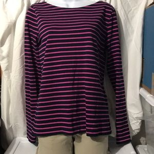 Striped long sleeve blue pink